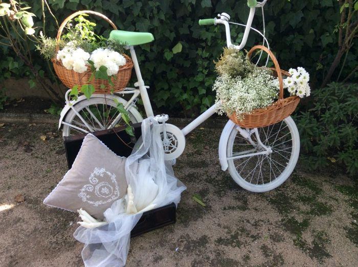 hochzeitsideen recycling dekoideen hochzeitsdekoration altes fahrrad ...