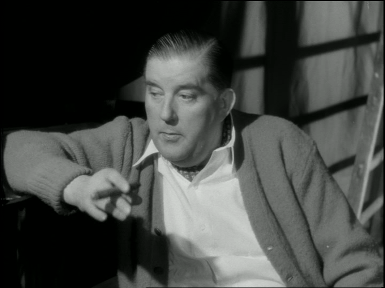 som teaterdirektør Volmer, i Mød mig på Cassiopeia fra 1951.