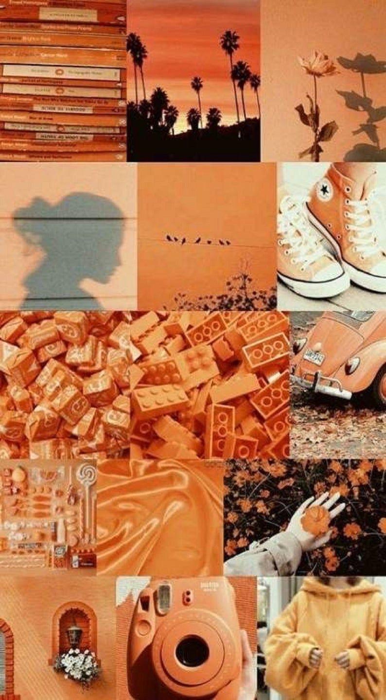 Boujee Aesthetic Wall Collage Kit - Orange