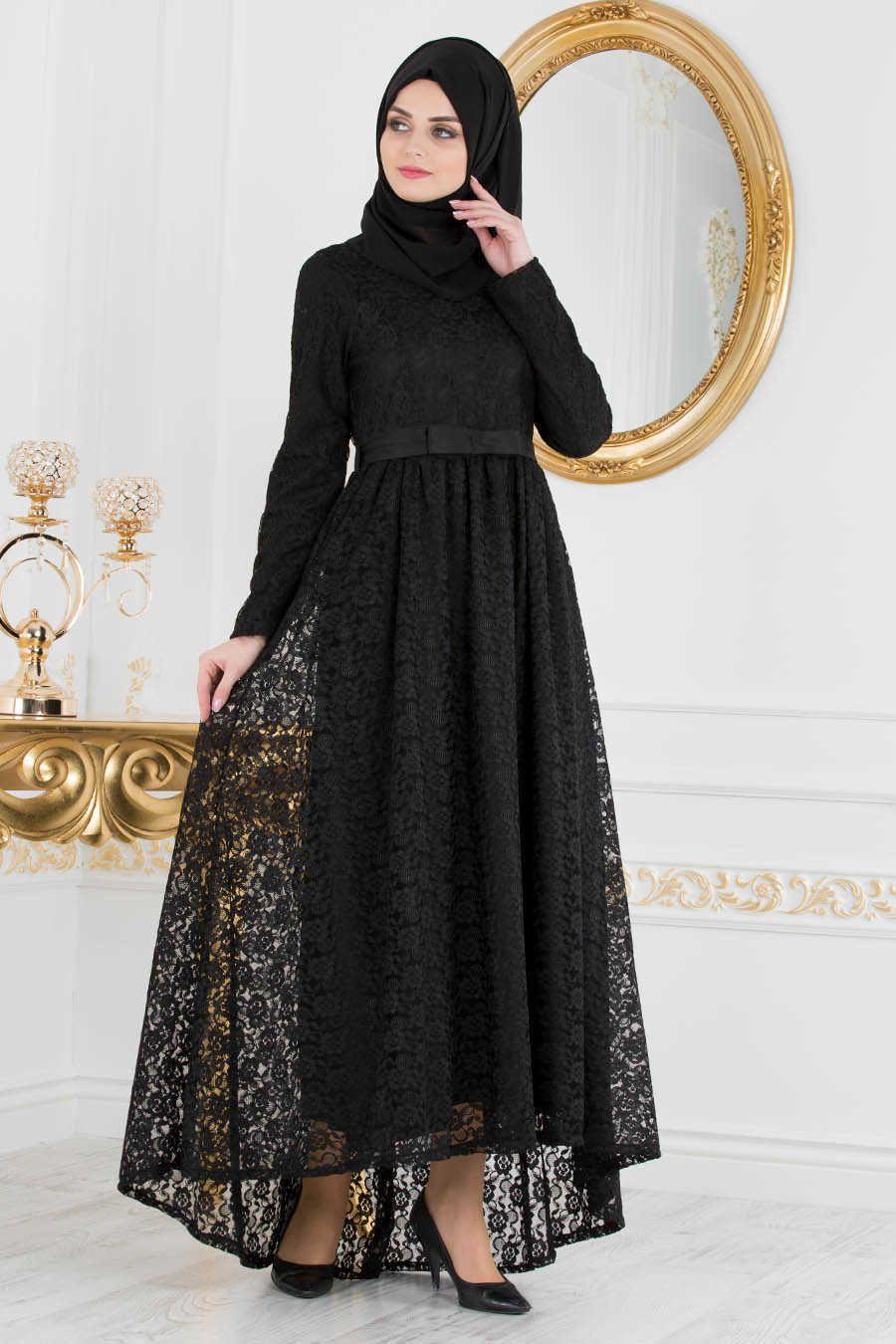 Neva style black hijab evening dress s evening dress