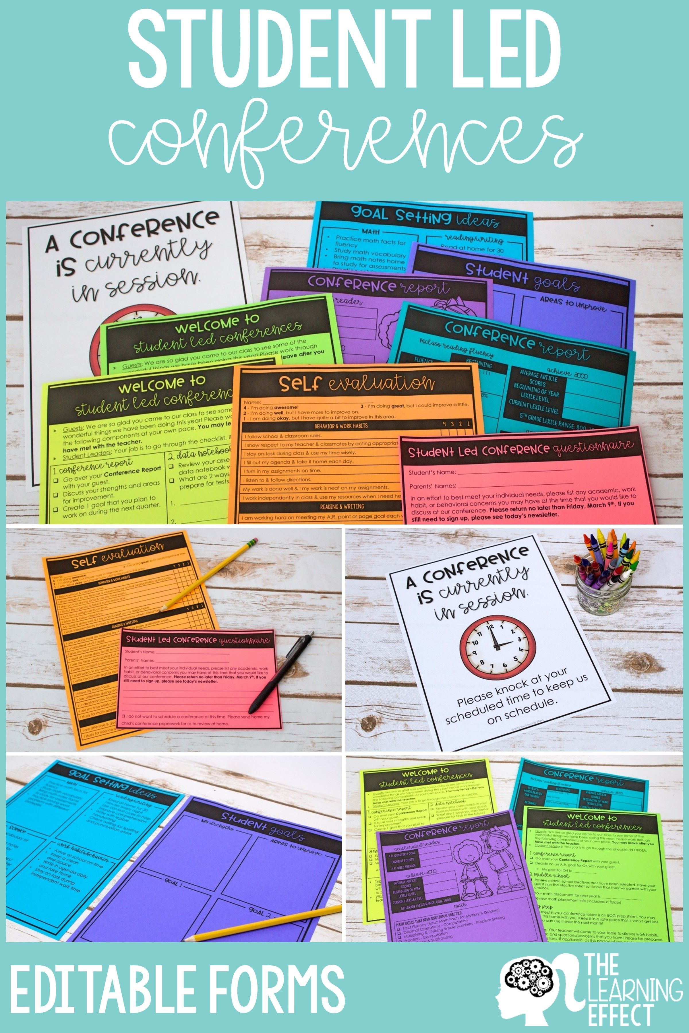 Student Led Conference Forms Digital Portfolio Bundle Printable And Virtual Student Led Conferences Student Led Student Conference