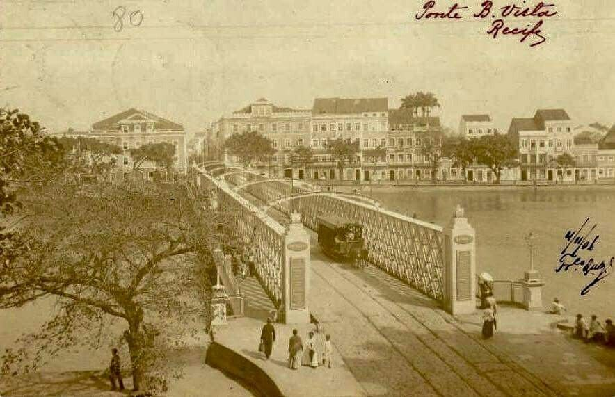 Recife, ponte de ferro, 1909 creio...