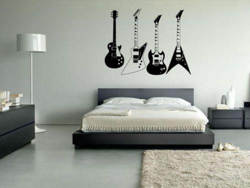 Wall-Vinyl-Sticker-Decal-Guitars-Instruments-Electro-Music-Rock-r143