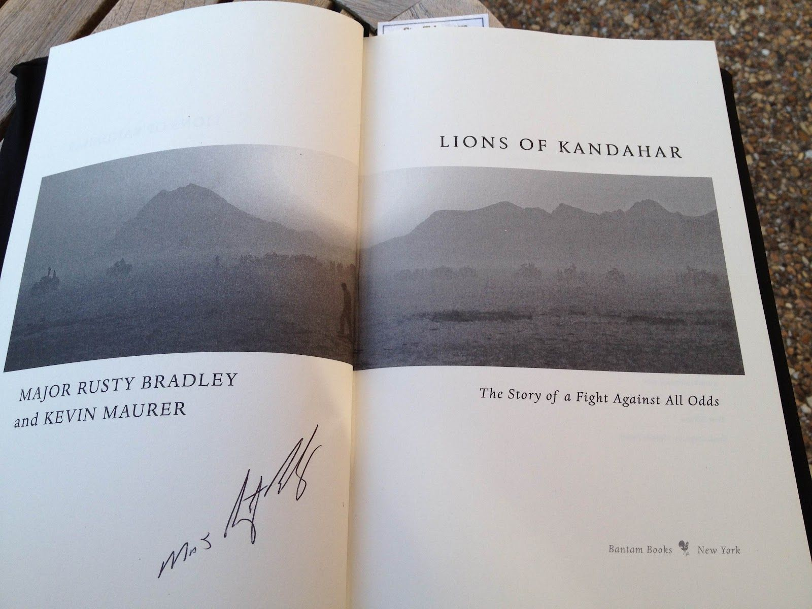 'Lions of Kandahar' by Major Rusty Bradley and Kevin Maurer.   (A book written by a special forces soldier while on active duty.)       -------      http://lionsofkandahar.com