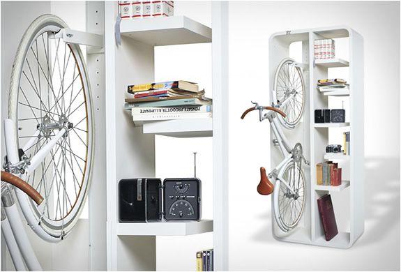 Bookbike Van Byografia : Bookbike bike bicicletas ahorrar espacio and muebles