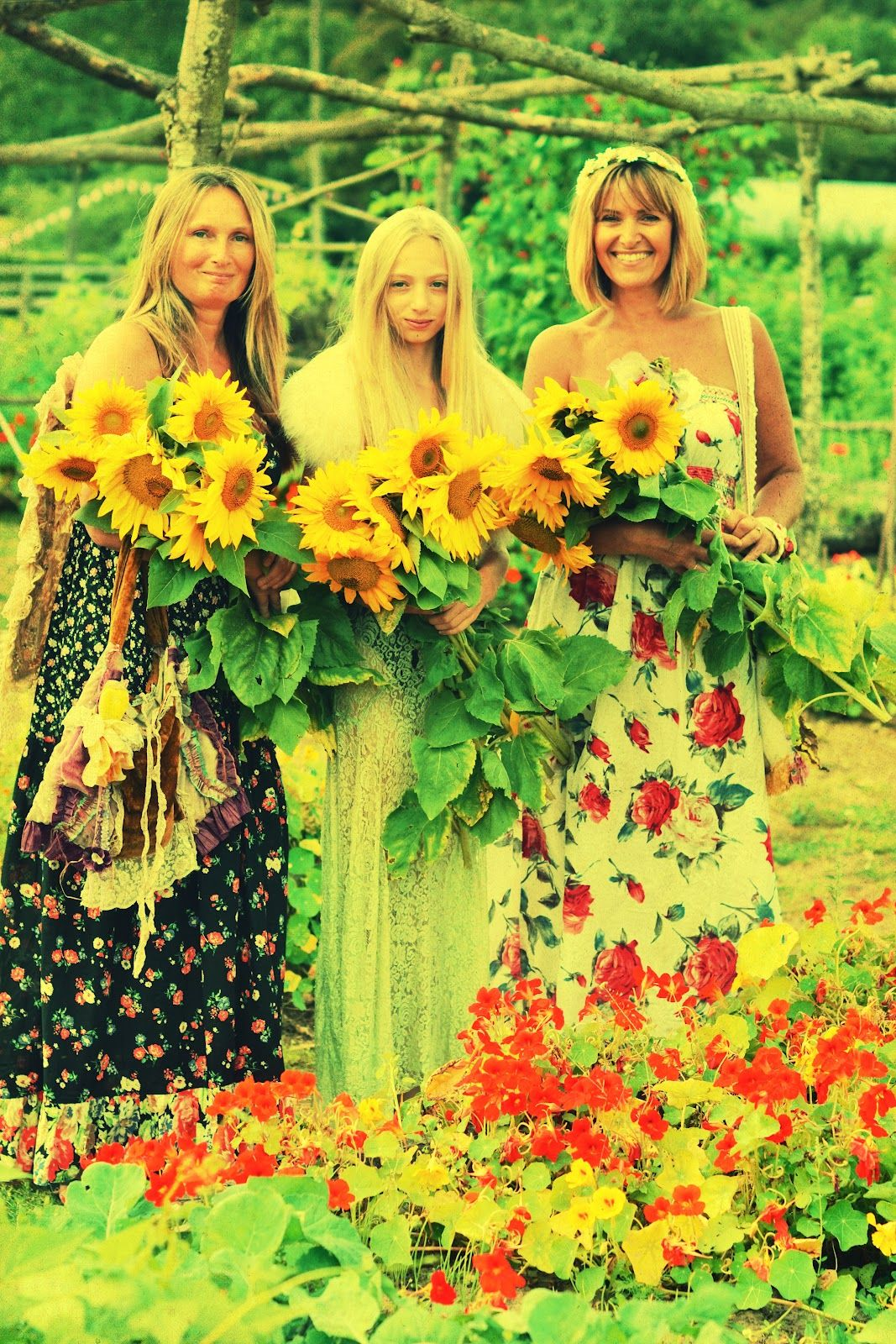 sunflowers & hippies