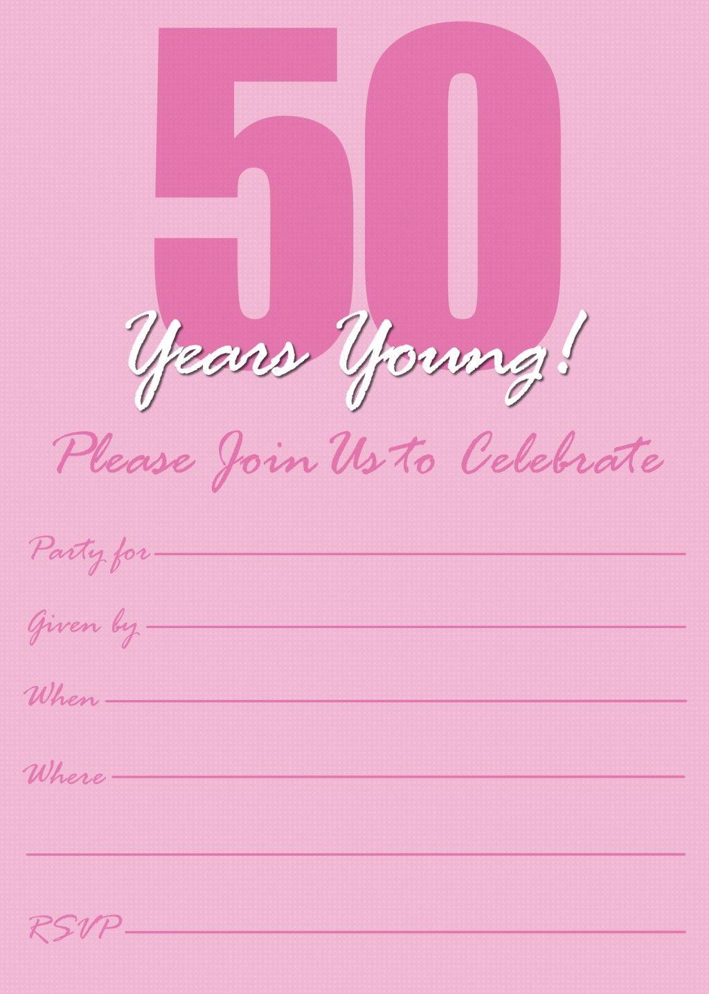 Free Printable 50th Birthday Party Invitations Templates ...