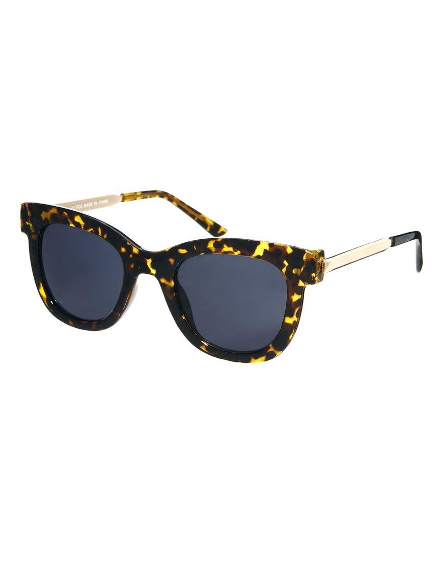ASOS Metal Arms Retro Sunglasses at asos.com