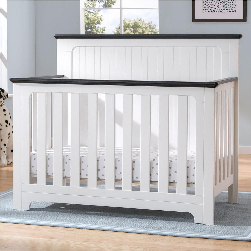 Complete Your Baby 39 S Nest With The Providence 4 In 1 Convertible Crib From Delta Children Its Beadboard Deta Cribs Convertible Crib White Convertible Crib White 4 in 1 cribs
