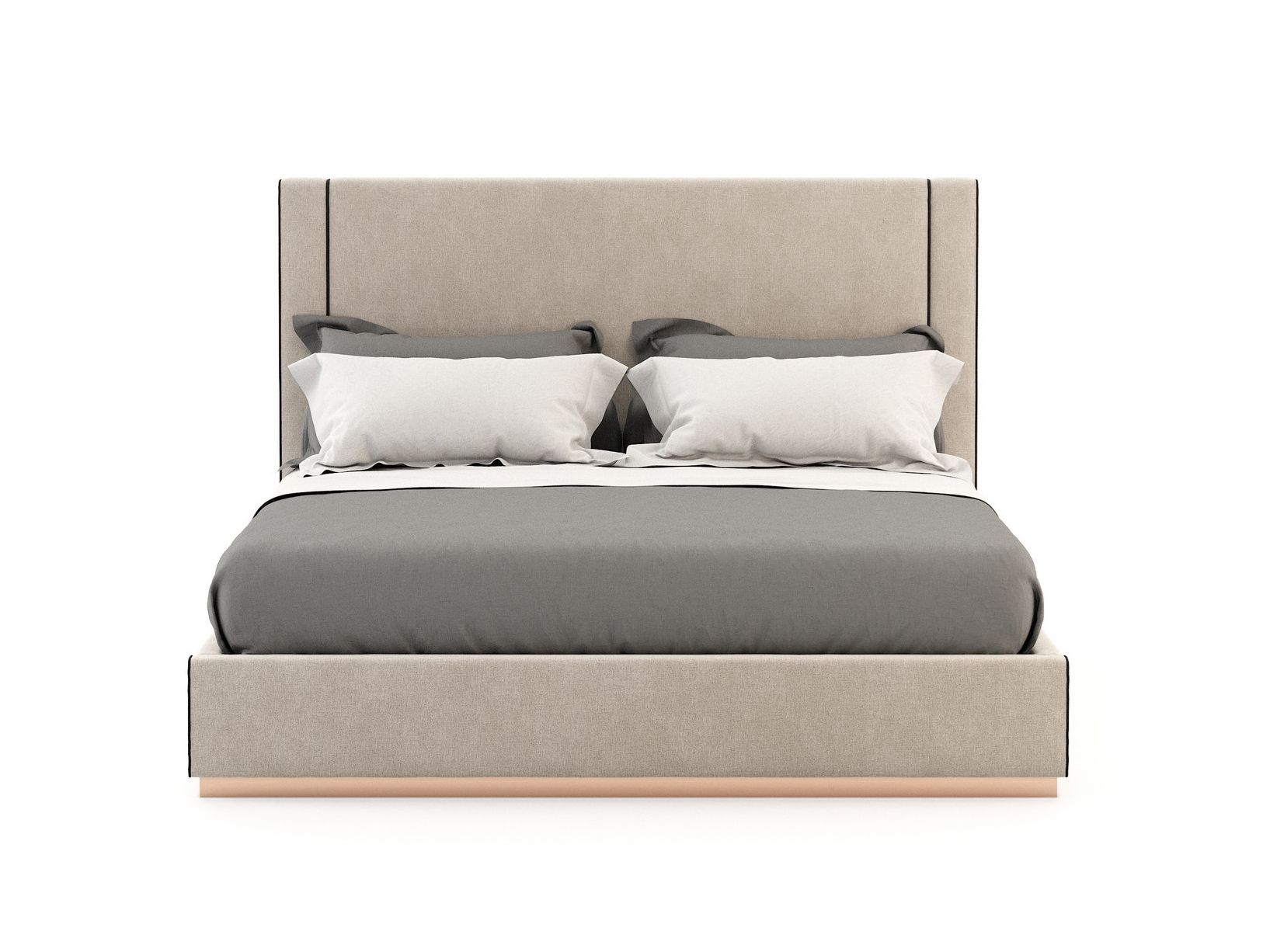Upholstered Fabric Bed With High Headboard Corin By Laskasas Bed