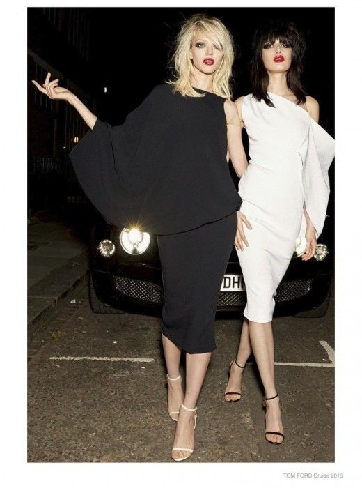 Sasha Luss and Sabrina Yofrede, for TOM FORD  #cruise #collection #2015 #lookbook #sparkling #sequins #eveningdress #glam The Glam Pepper
