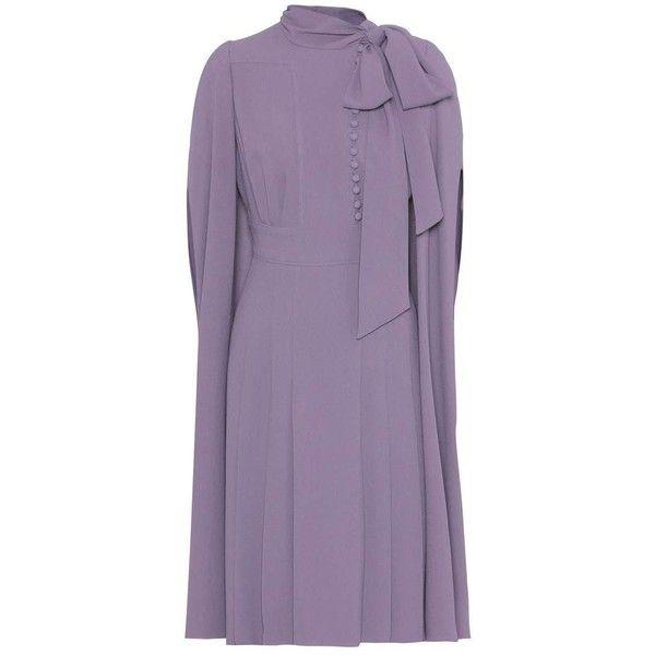 Valentino Crepe Dress 4 160 Liked On Polyvore Featuring Dresses Purple Valentino Dress Crepe Fabric Dress Purp With Images Fashion Dresses Valentino Dress Fashion