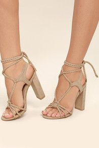 7bf05404b69 The Geva Mauve Suede Caged Heels beautifully combine casual and dressy  style! These peep-toe stunners feature a unique caged design