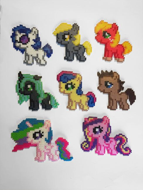 My Little Pony Silly Filly Sprites Perler Beads | Patrones