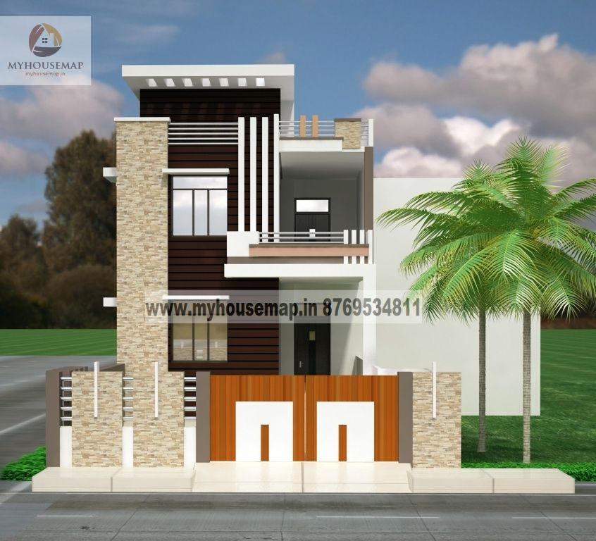 Duplex house plans elevation photos indian style front design building also rumah minimalis rh pinterest
