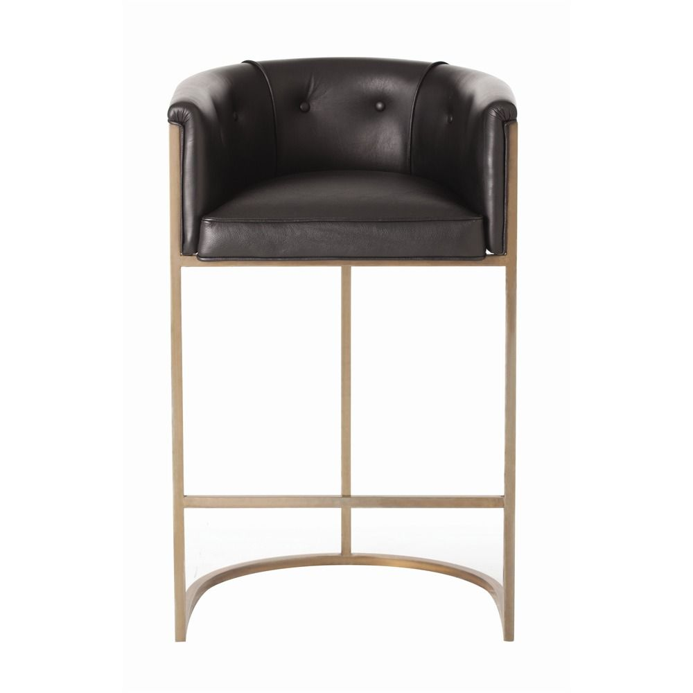 The Softness Of Top Grain Leather Combines With Warmth Antique Br To Give This Barstool Its Distinctive Style