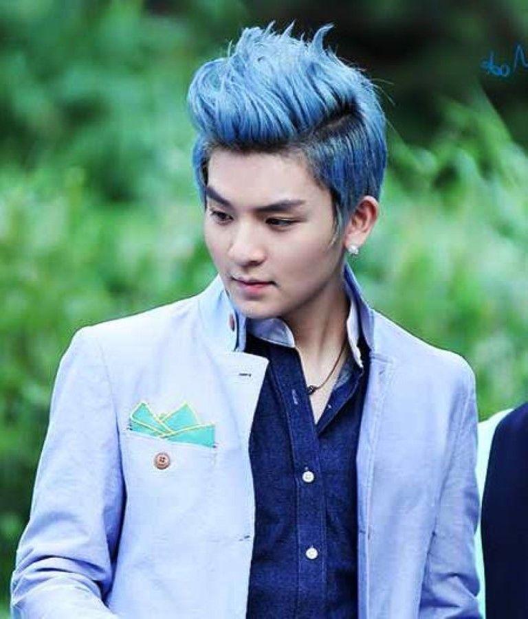 men blue hair color ideas