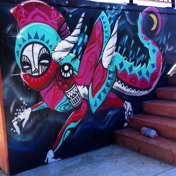 Belconnen skatepark Canberra graffiti - This one is by Abyss 607 and is down the road from my (@Lovers Not Liars) house - it's so beautiful and bright!