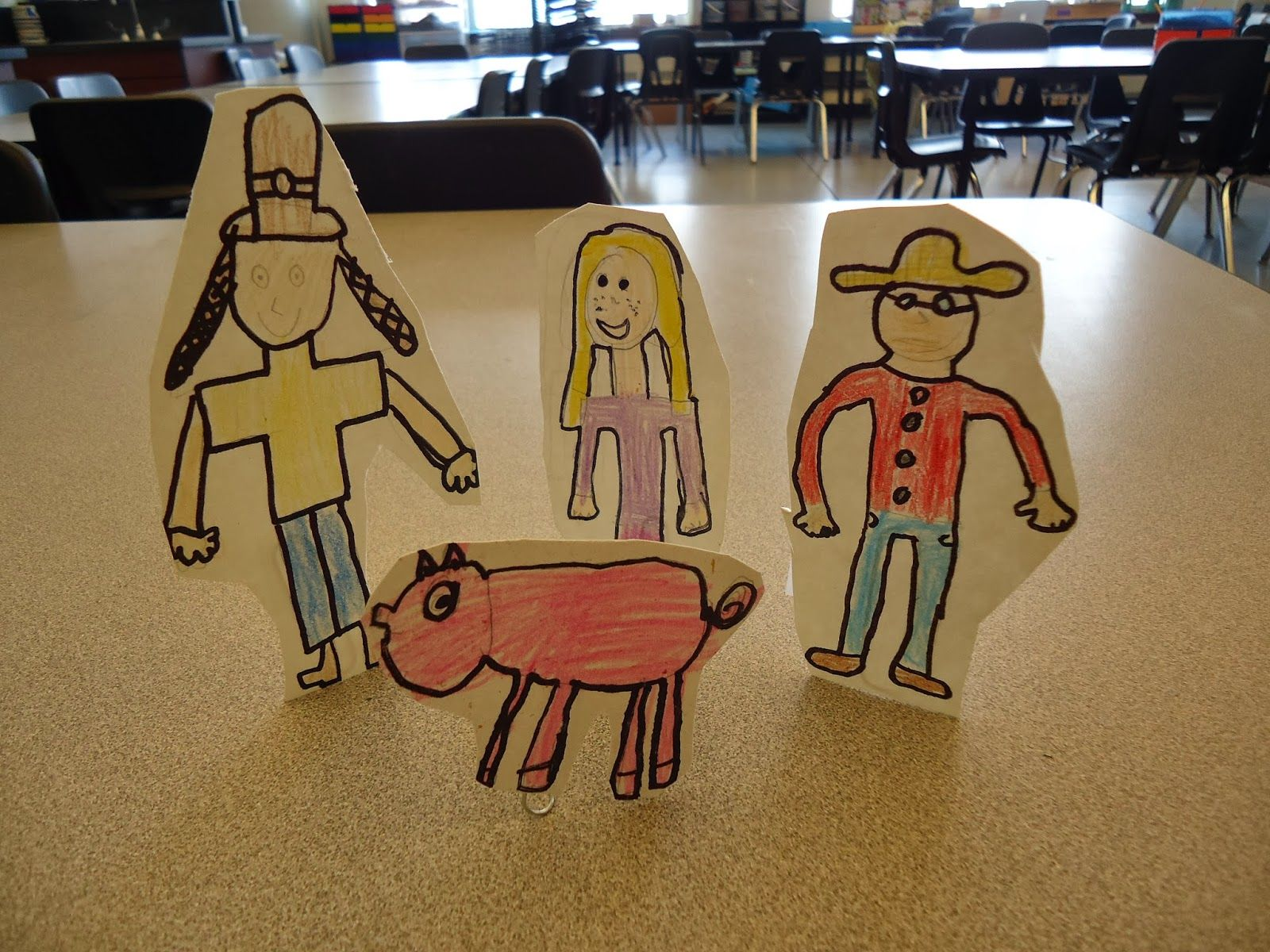 mini matisse: stop motion: prepare the story: creating the set