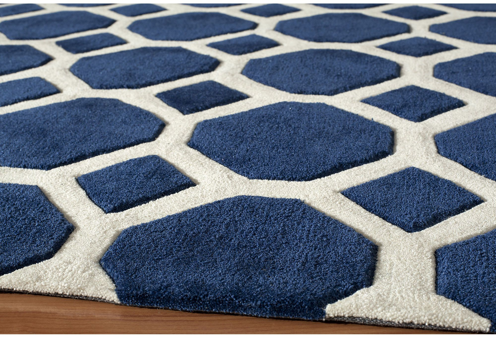 220 for 5 x 7 39 6 one kings lane high impact annie rug - Navy rug living room ...
