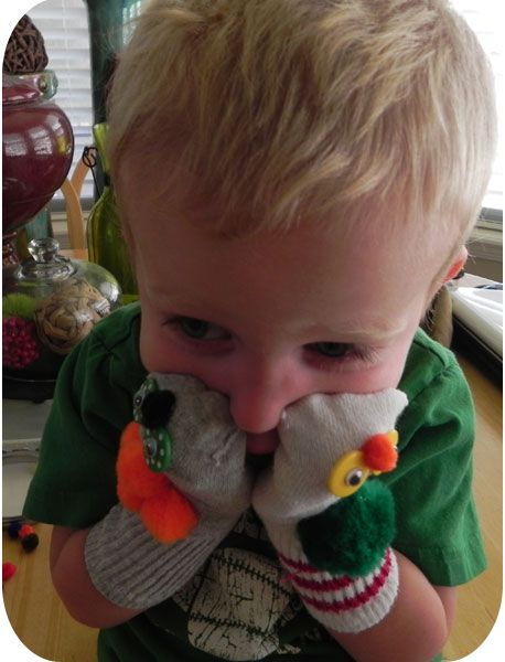 What a cutie ! My kids loved sock puppets when they were little.