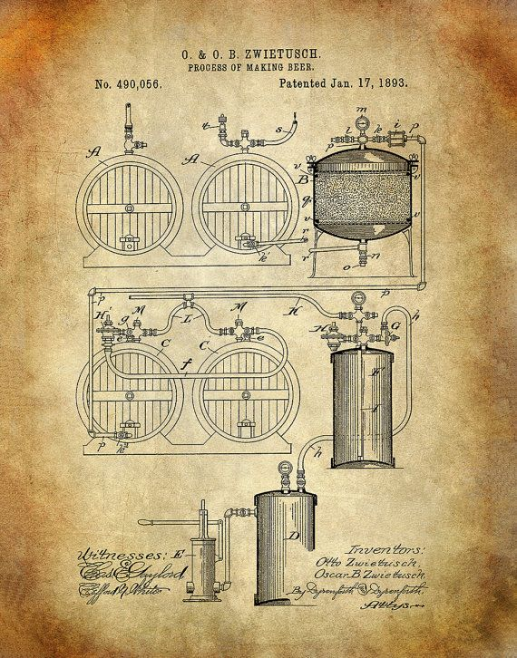 Process of Making Beer Patent Art Print Beer by MEGHANNDRIVE ...