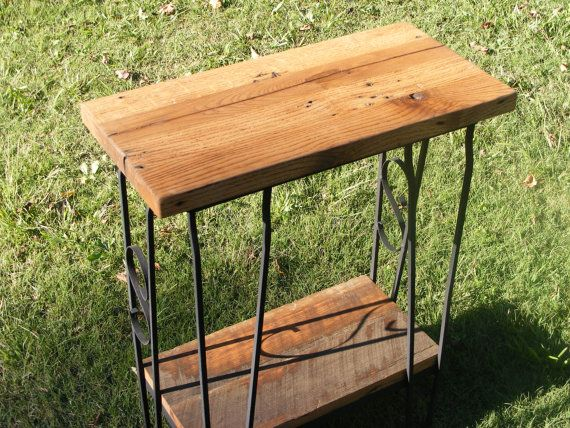 Oak And Wrought Iron Entry Table By CowanCreekCreations On Etsy