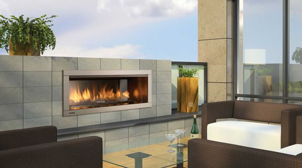 contemporary outdoor fireplaces outdoor gas fireplaces by hearth rh pinterest com Outdoor Contemporary Gas Fireplace Kits Long Outdoor Fireplace