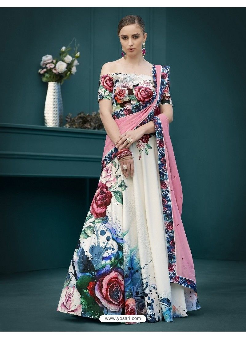 f20aecd0b8 Awesome Multi Colour Digital Printed Lehenga Choli in 2019 | Wedding ...