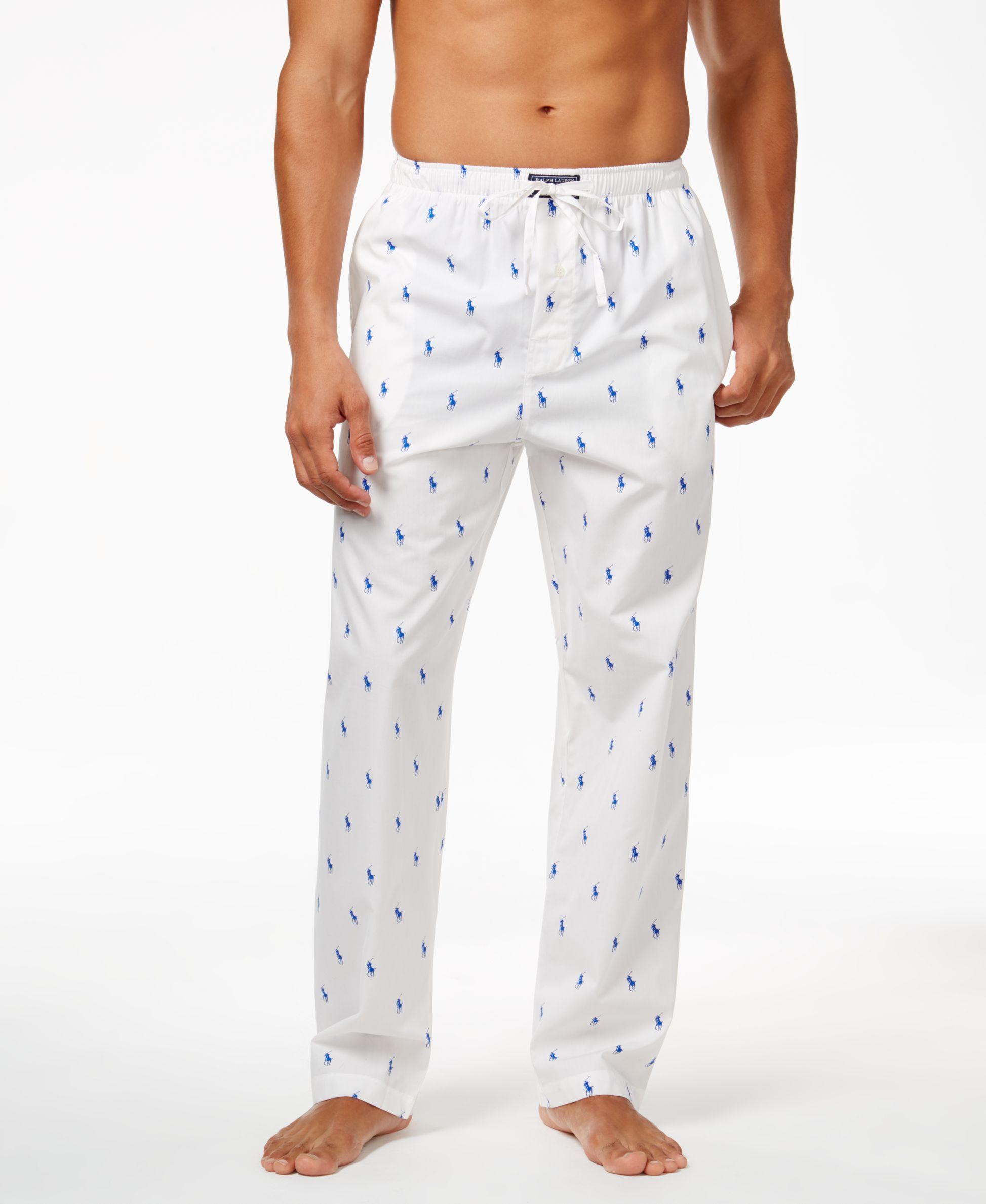 8d5f845806 Polo Ralph Lauren Men s Woven Polo Player Pajama Pants. An allover ...