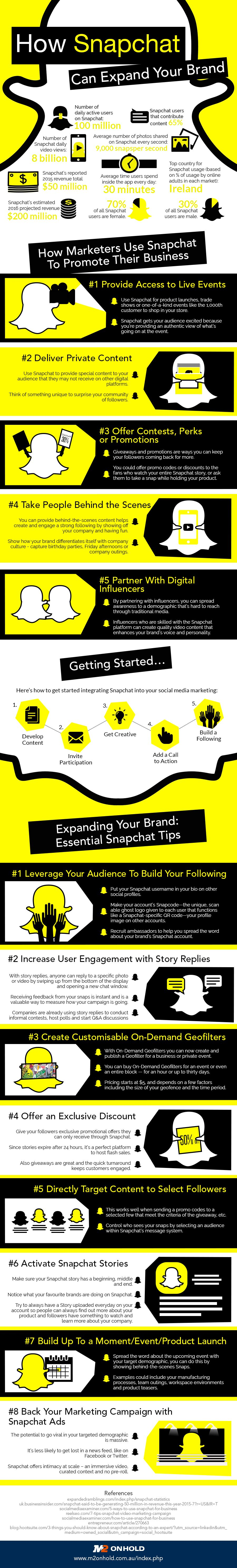 how snapchat can expand your brand infographic snapchat tips