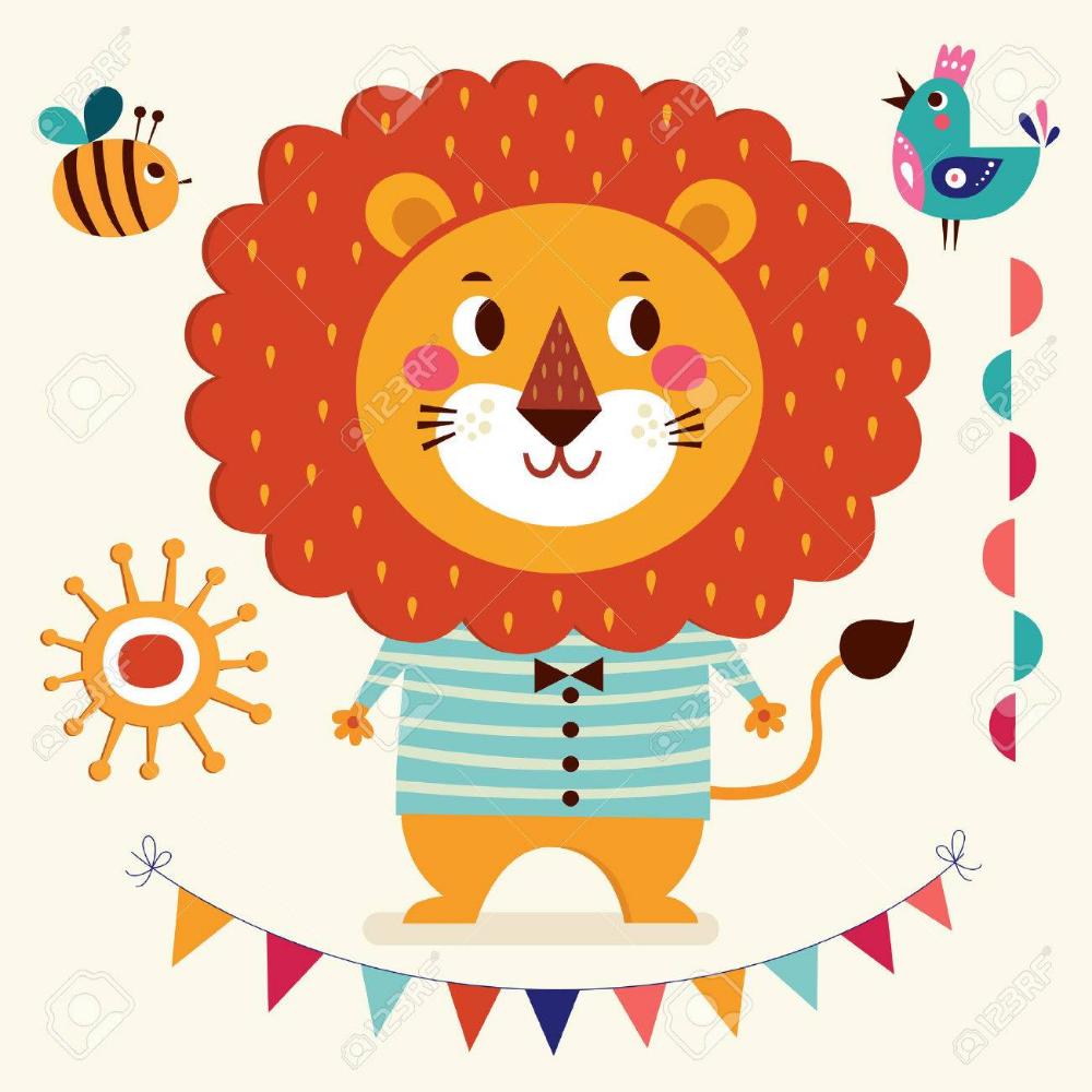 Stock Vector In 2020 Lion Illustration Cartoon Styles Baby
