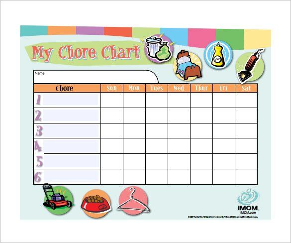 Customizable Weekly Chore Chart Free Downlaod , How to Make Good - chore list template