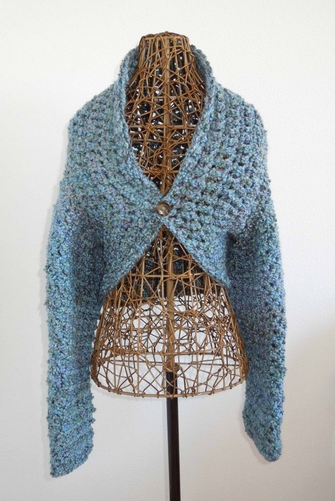Easy No-Seam Crochet Shug Pattern | Crochet - Clothing | Pinterest ...