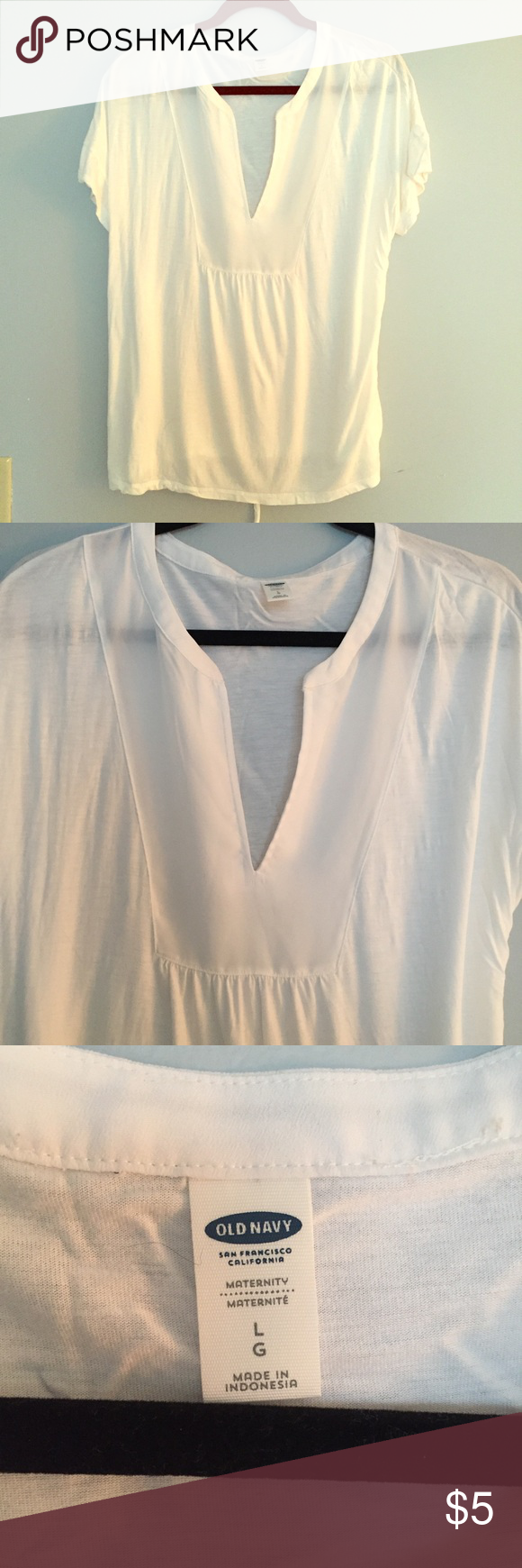 Old Navy Maternity Top Perfect for spring! Light and soft maternity top with a back tie. Old Navy Tops Tees - Short Sleeve