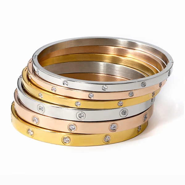 Photo of Eternity bangle – stainless steel