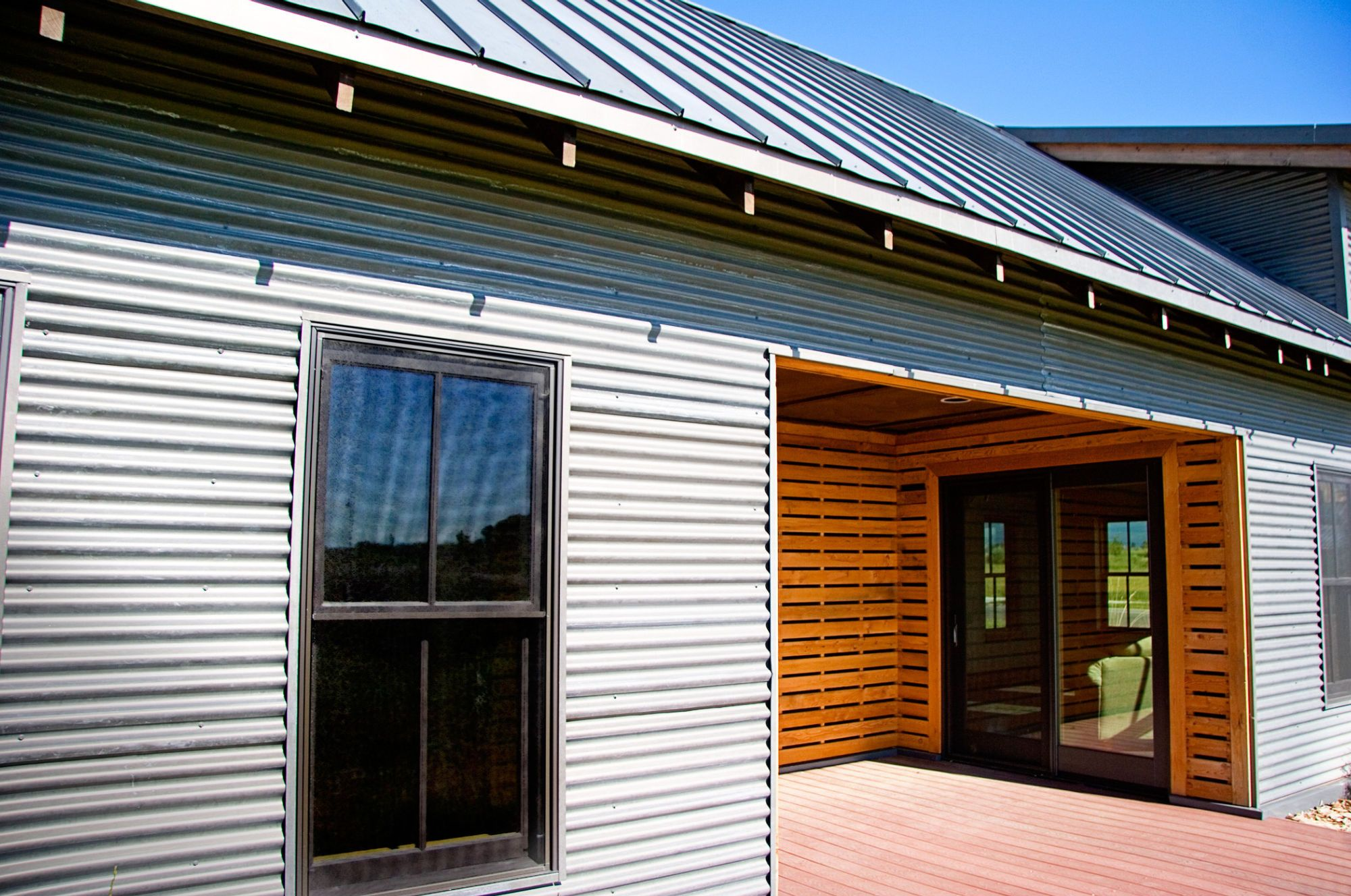 Decorate Exterior Using Corrugated Metal Siding For Residential