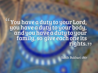 Most of us forget about the duty to our bodies.