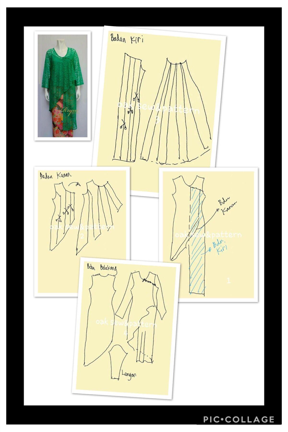 Kebaya   tutorial.FASHION   Pinterest   Patrones, Costura y Varios