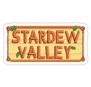 Stardew Valley Wooden Logo Sticker By Thehipoglucido In 2021 Stardew Valley Wooden Logo Logo Sticker