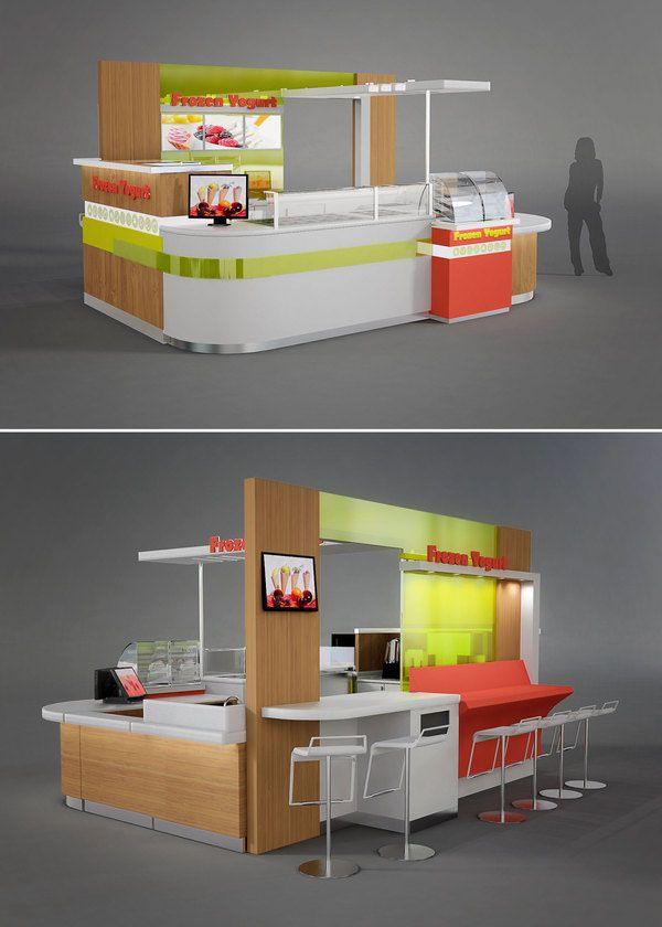 Custom Designed Kiosks | Waffle Cart | Kiosk design, Food kiosk