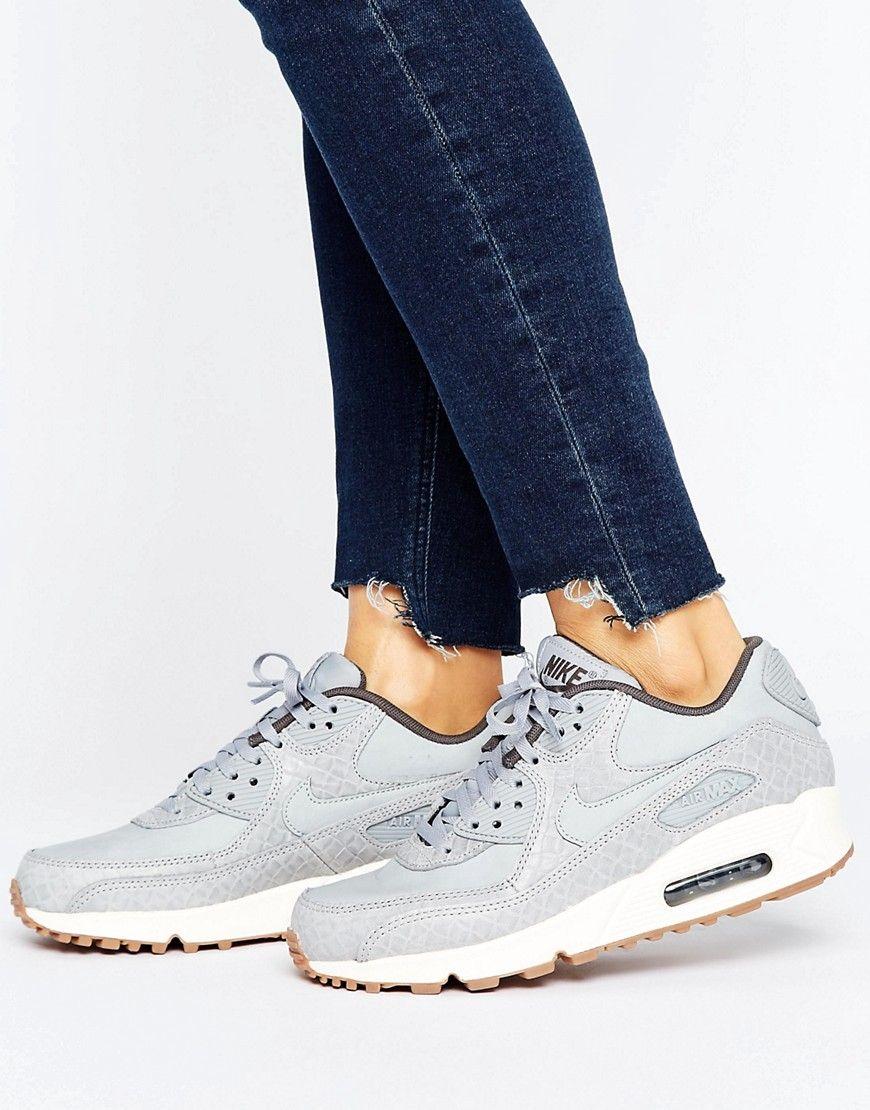 reputable site 5764b a9cf4 Nike Air Max 90 Premium Trainers In Grey - Grey. Air