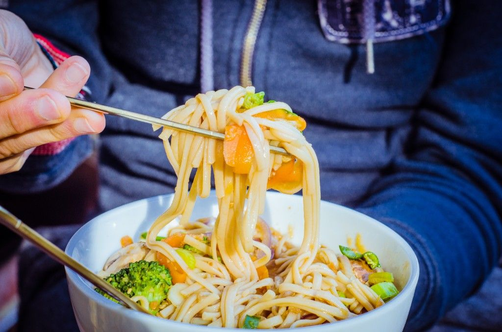 Have you ever read the back of a pot noodle pack? Don't do it, it's really quite scary. Instead make yourself these 5 minute instant 'pot' noodles that are crammed to the brim with goodness. Loads of