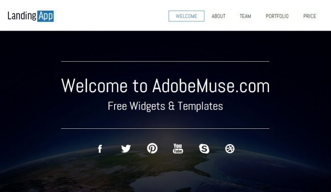 35awesome free and premium adobe muse templates