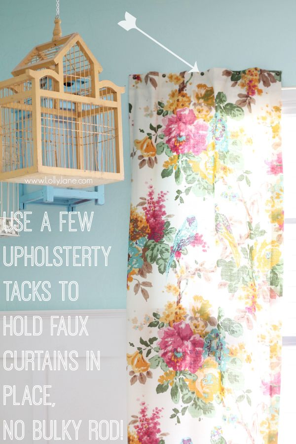 Tip To Hang Curtains Without Using A Rod Hanging Curtains