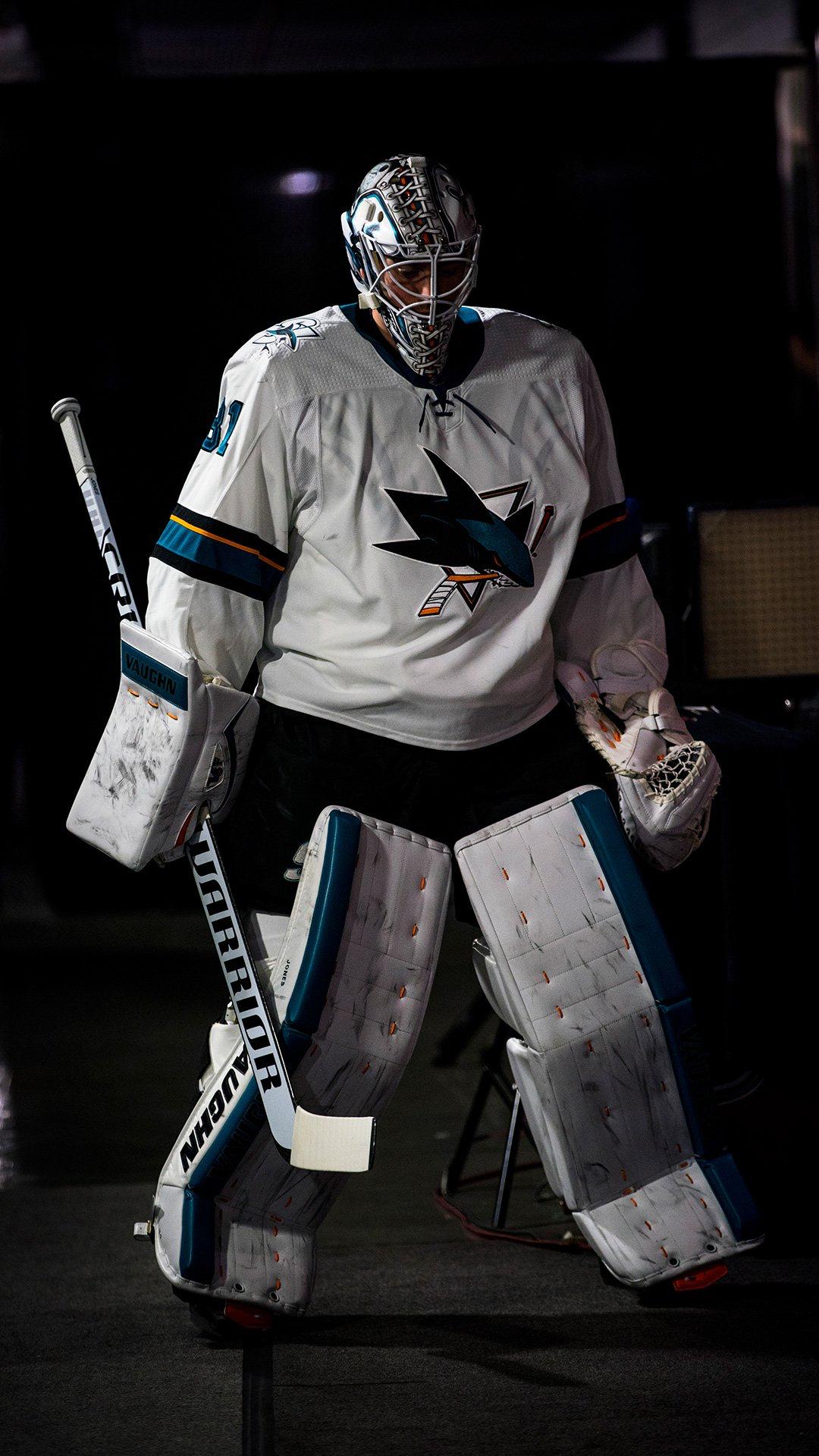 Jones Wp San Jose Sharks Hockey Goalie Goalie