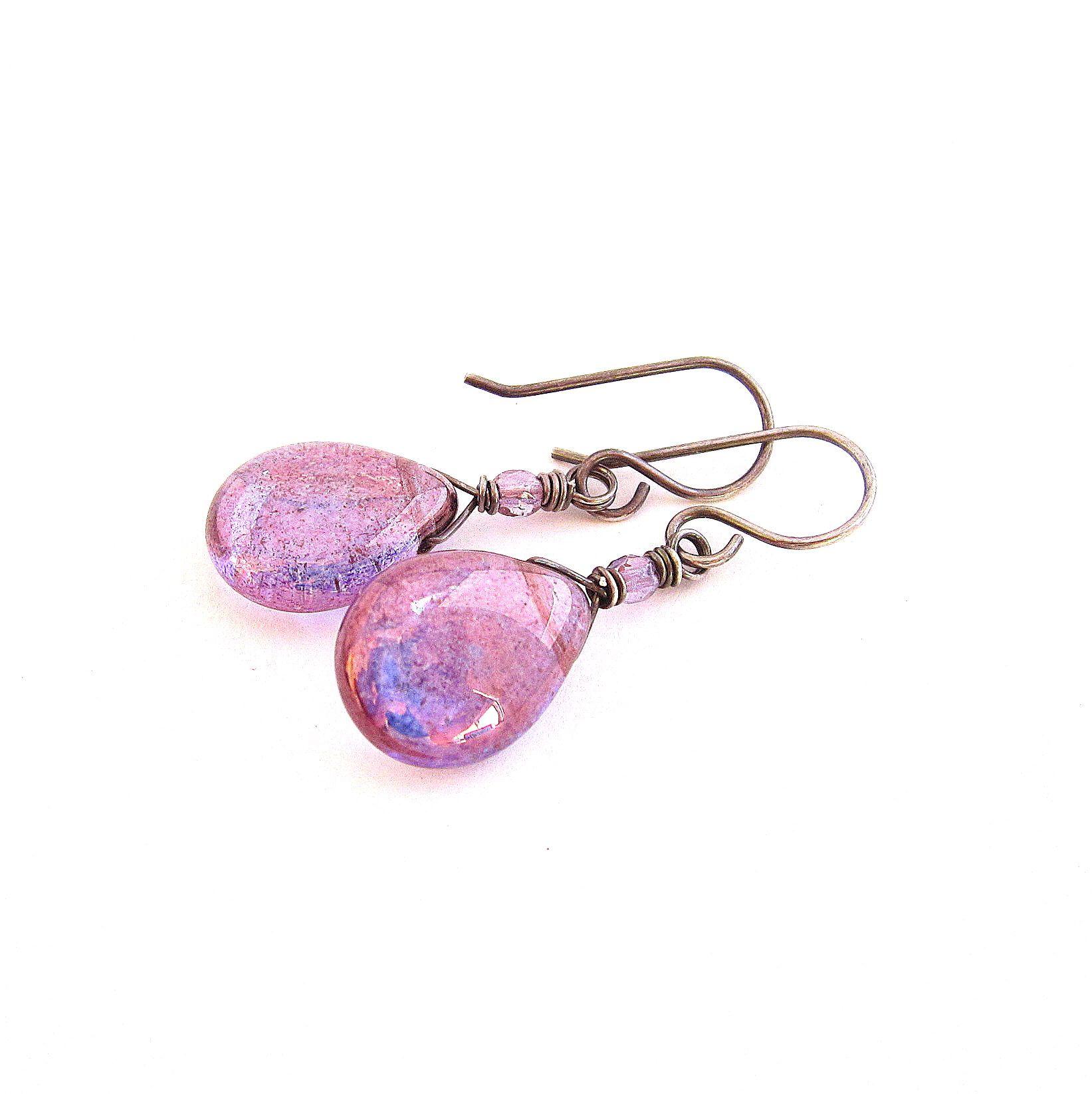 purple radiance earrings