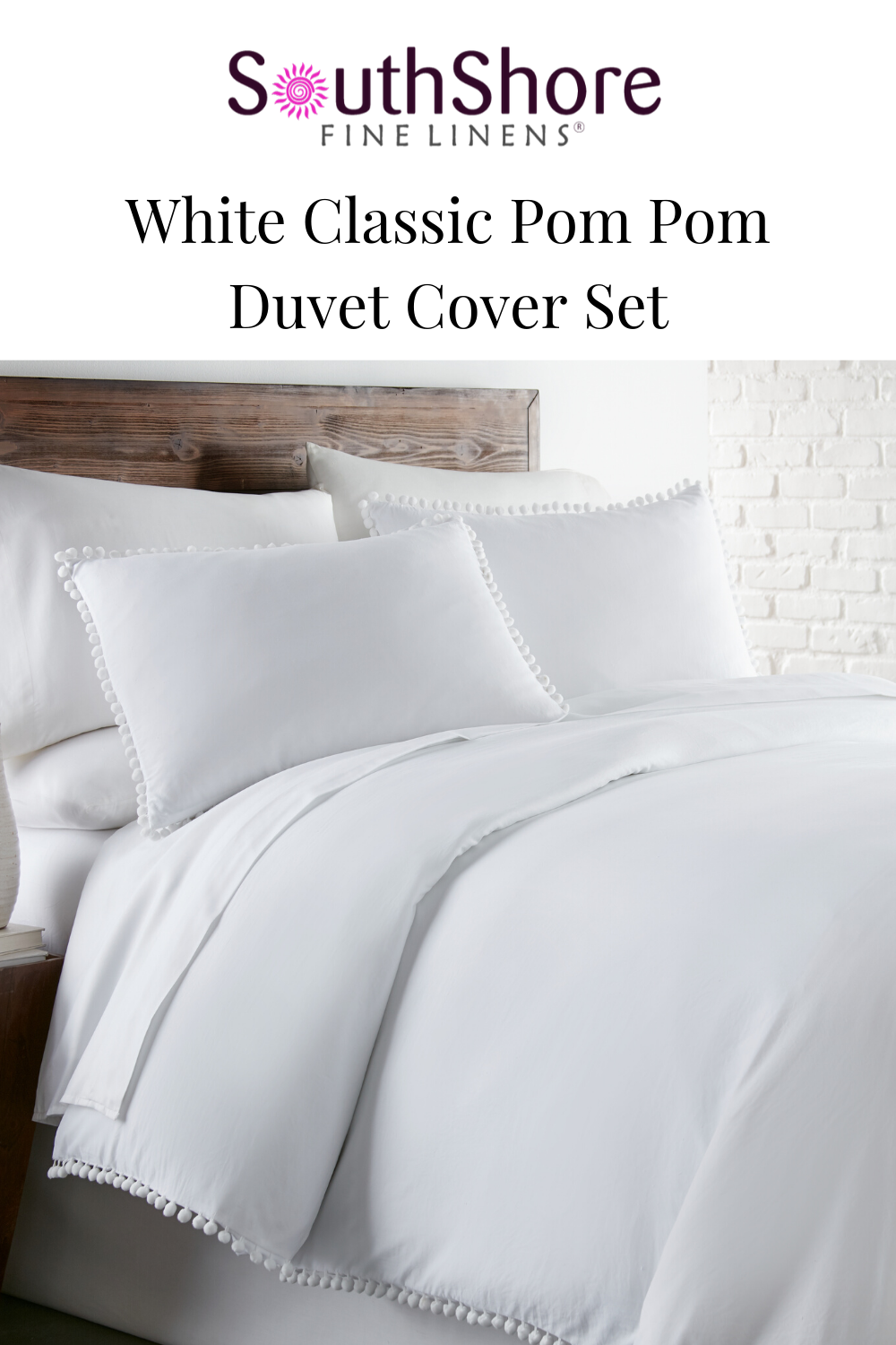 Classic Pom Pom Duvet Cover Set Made With Pre Wash Fabric In 2020
