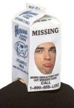 Milk Carton Hood Funny Costume