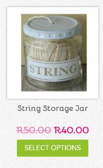 String jar - keep it tidy ladies!  Available at www.neatfreak.co.za